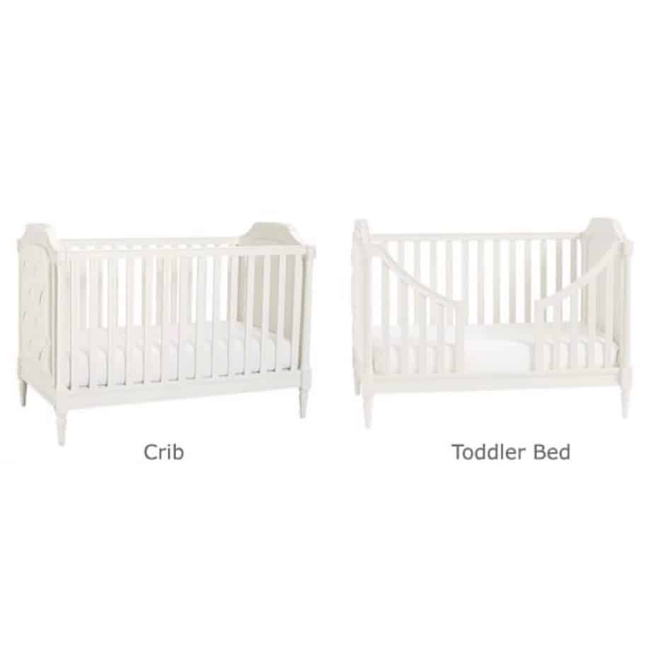 The difference from a crib to a toddler bed.