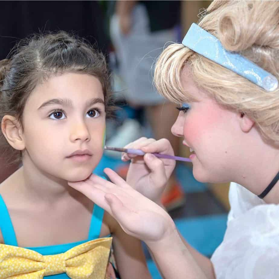 """""""Cinderella"""" face painting my daughter at her 4th birthday party"""