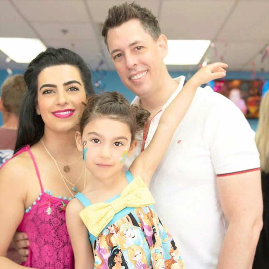 Family celebrations at my daughter's 4th birthday
