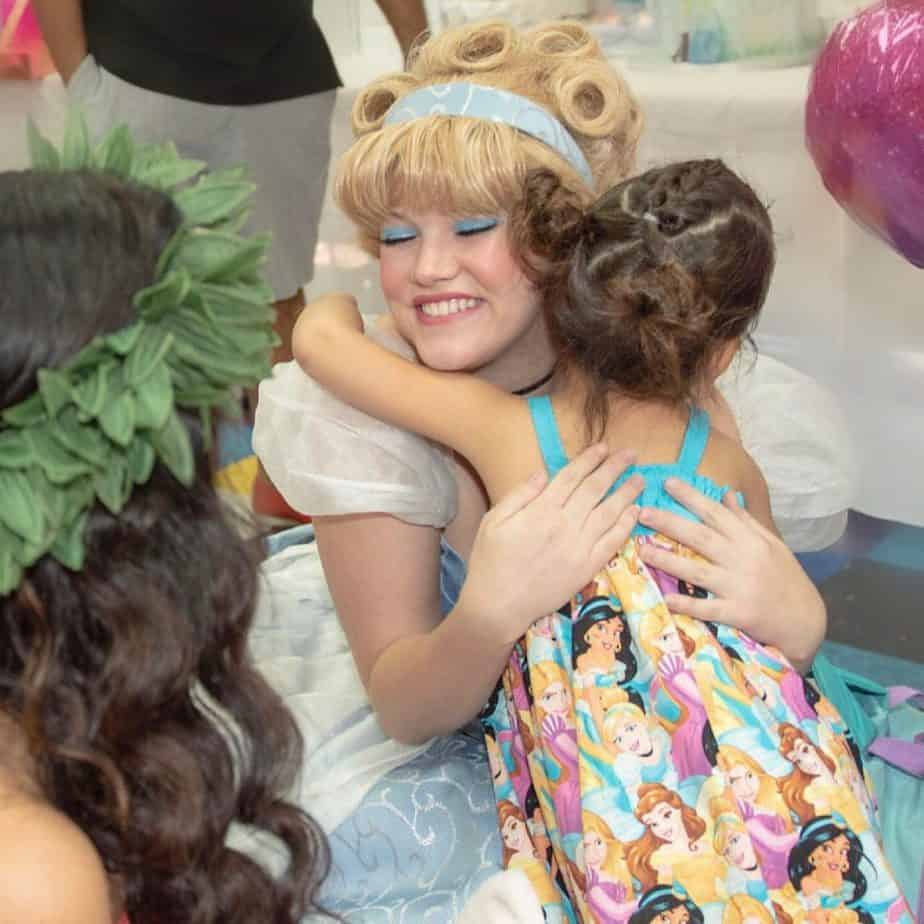 """My daughter meeting """"Cinderella"""" at her birthday party"""
