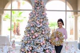 Pink Christmas home decor