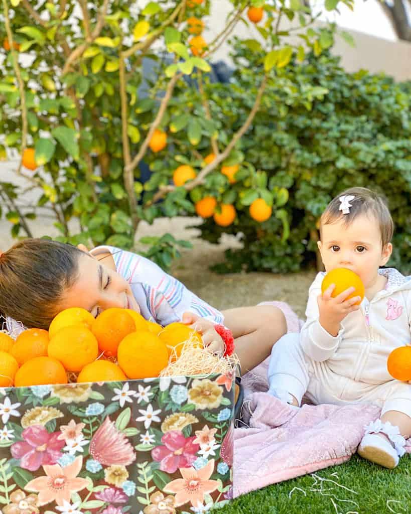 My kids love fruit picking