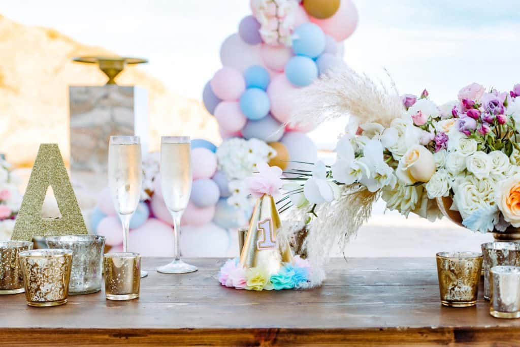 Table setting: planning my baby's first birthday party