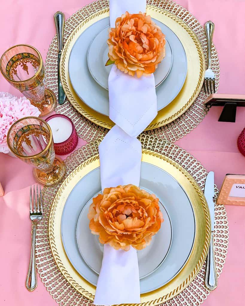 Quarantine party ideas: table place setting