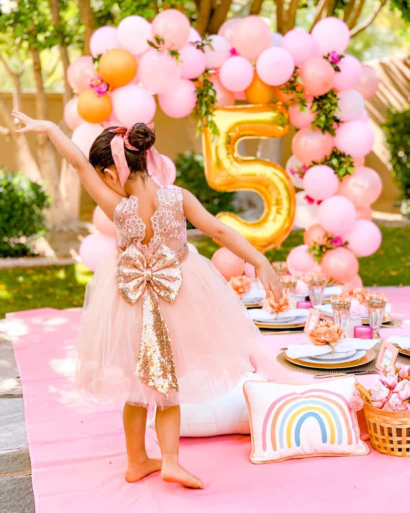 Beautiful party dress for child's party at home