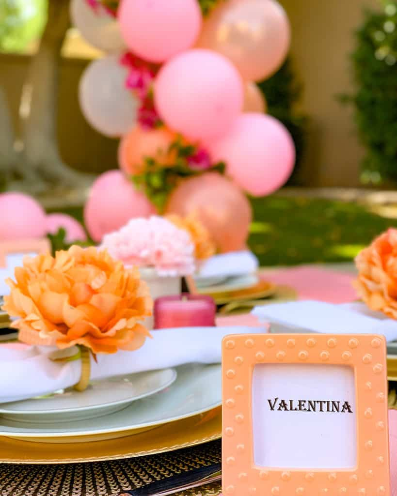 Quarantine party ideas: table place setting for birthday girl
