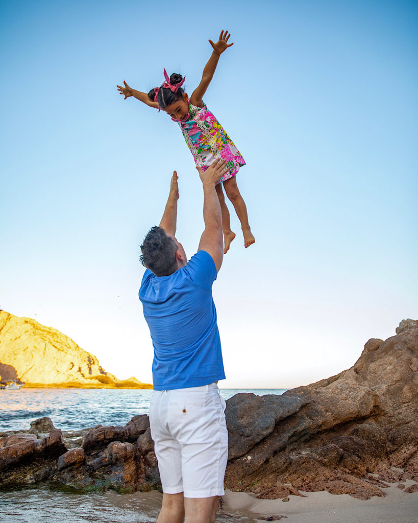Best Father's Day Gifts - father and daughter playing on the beach