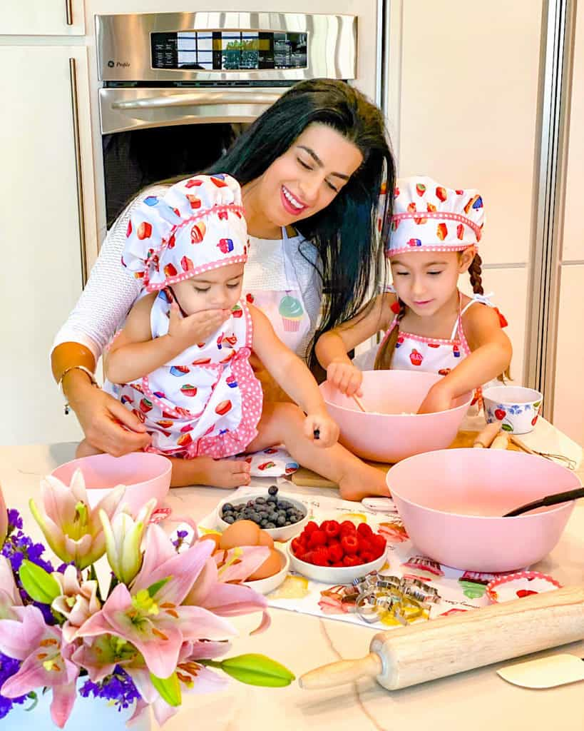 Me and my daughters making cupcakes - such simple baking recipes to try with your kids