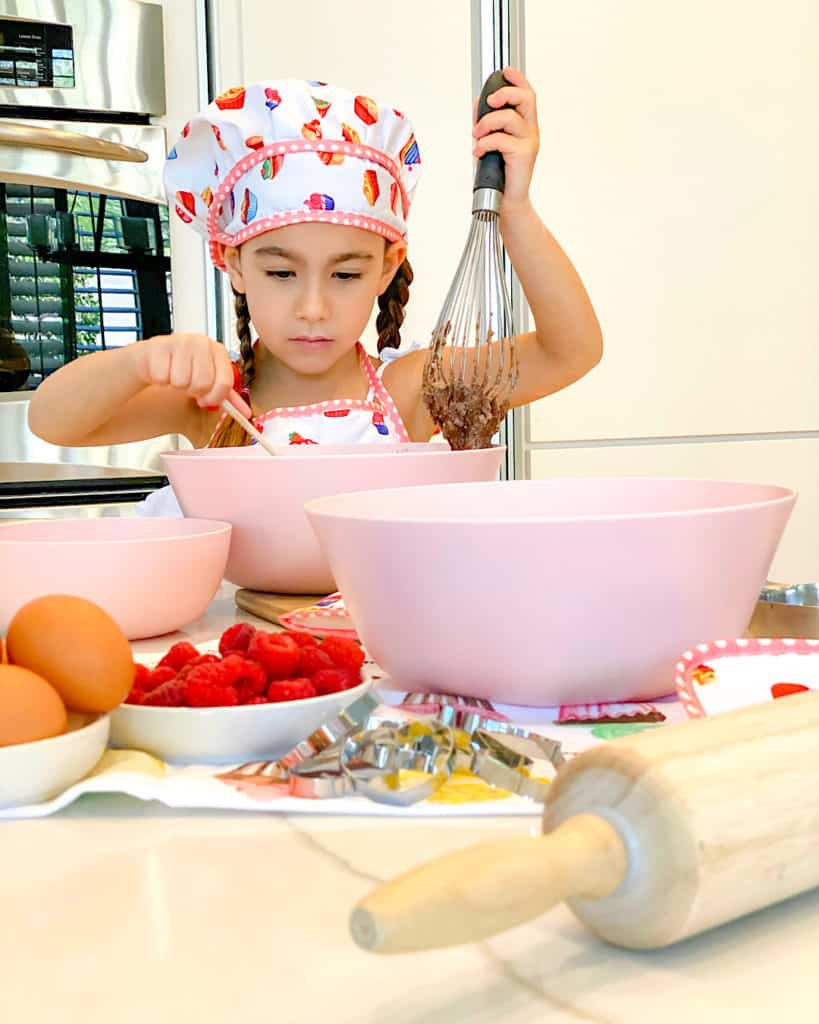 My little daughter baking cupcakes - such simple baking recipes to try with your kids