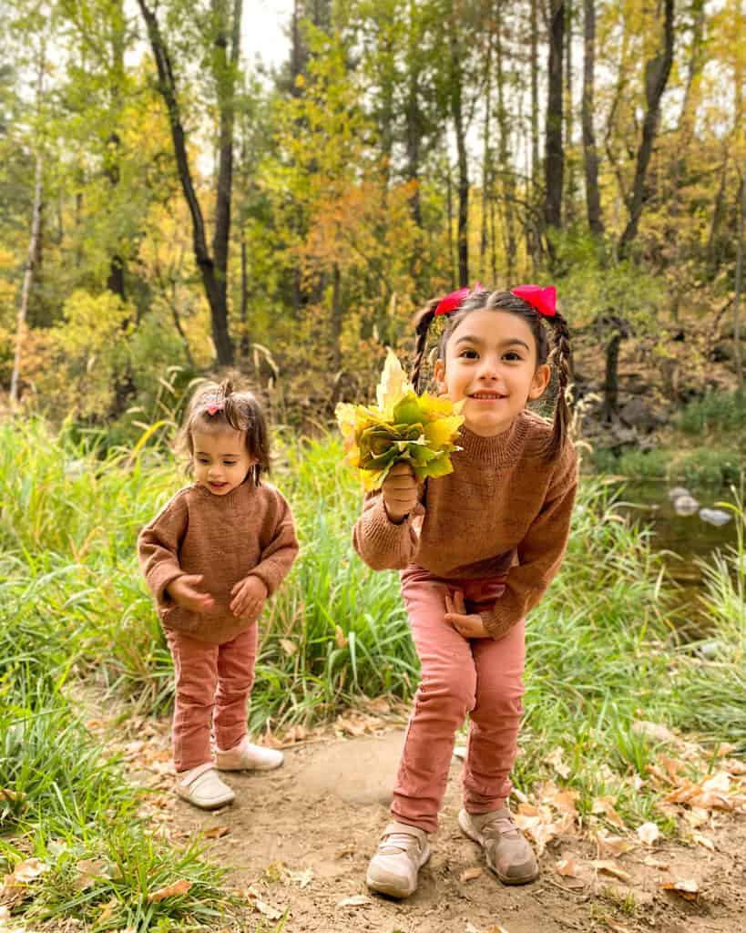 Kids love playing with the leaves!