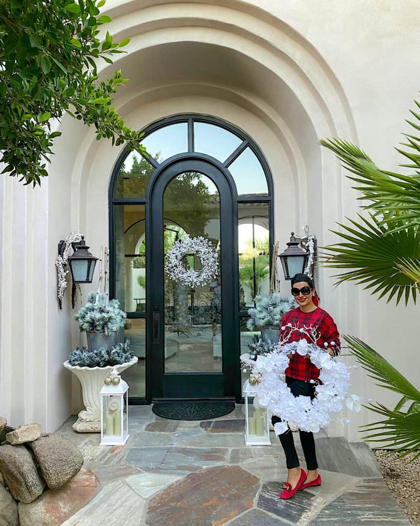 Holiday wreaths and a fresh coat of paint with Behr Paint exterior