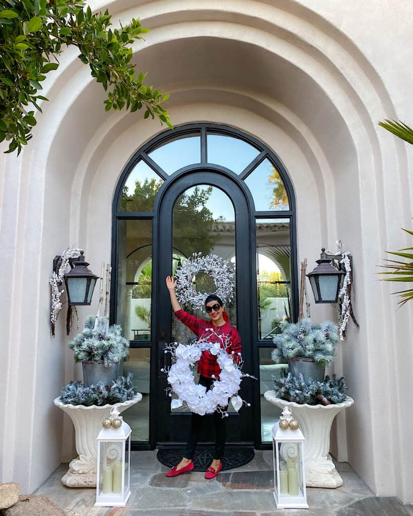 Exterior paint by Behr and gorgeous wreaths - giving my home a makeover in time for the holidays!