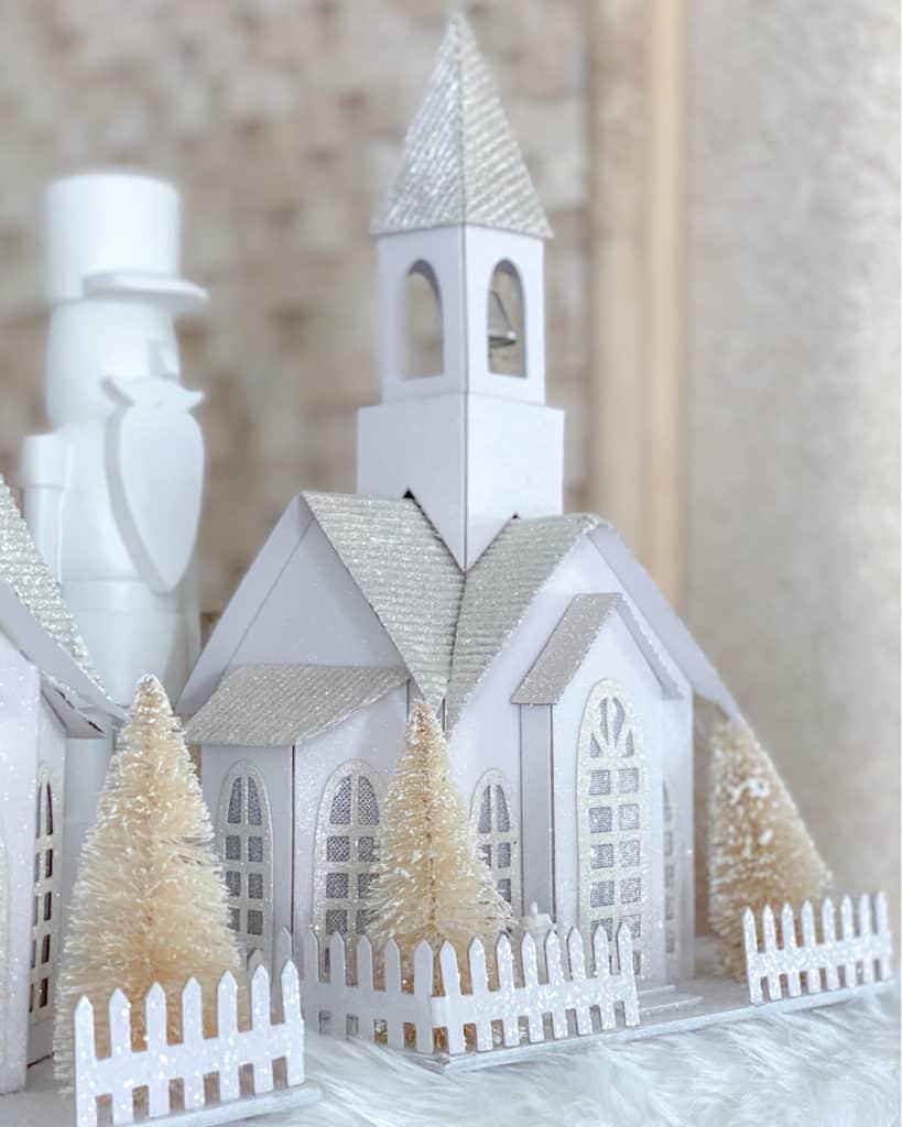 Wooden Winter village decoration