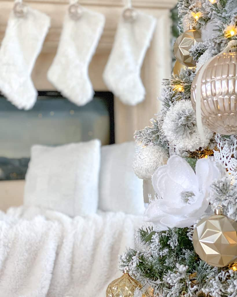 White and Rose Gold Christmas decorations