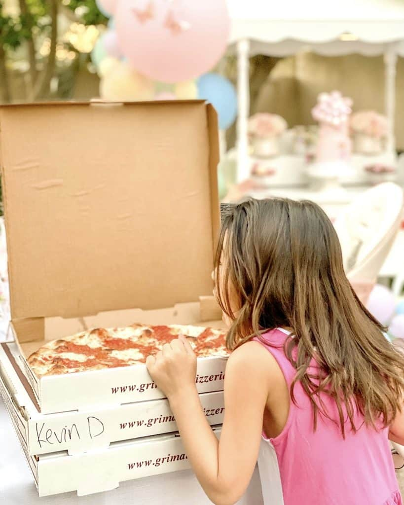 Ordering in pizza at a birthday party