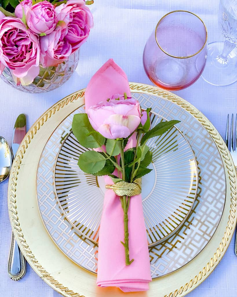 table setting on birthday party table