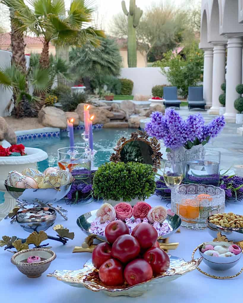 Decorated Persian New Year Table (Nowruz)