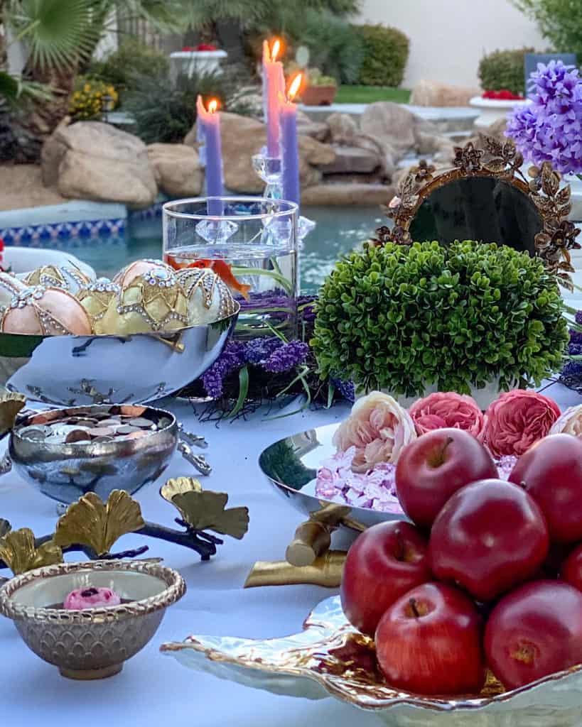 Nowruz table decorations