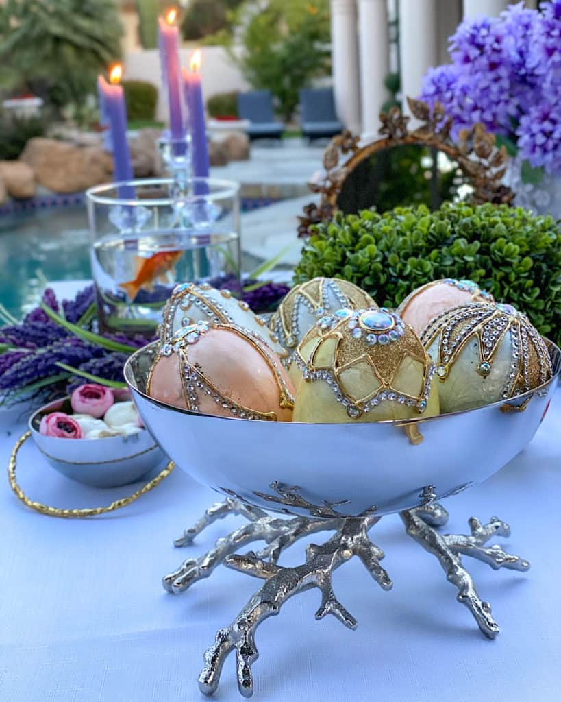 Decorated eggs:  Nowruz table decorations