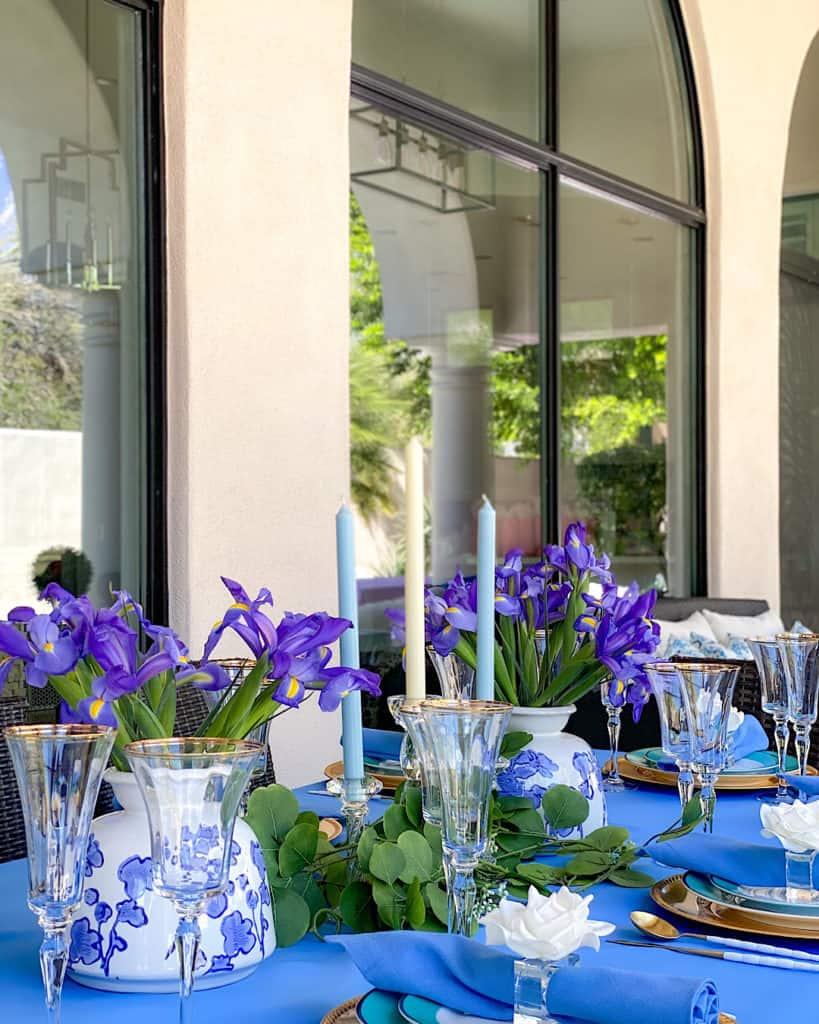 Table setting for a garden tea party