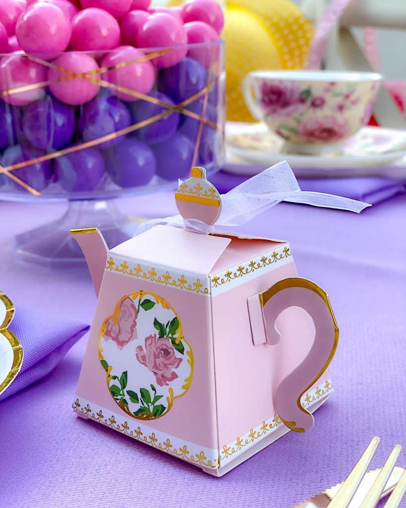 BIrthday garden tea party favors