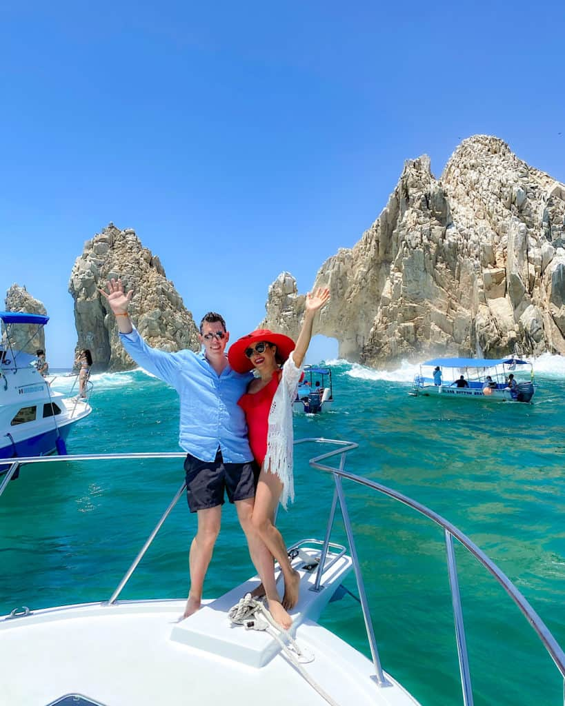 Me and Matt on the boat to Land's End