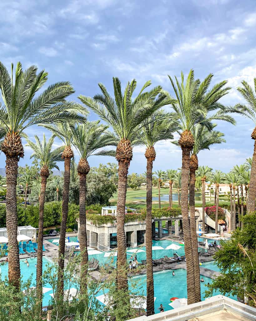 Hyatt Regency Scottsdale Arizona pool area with palms