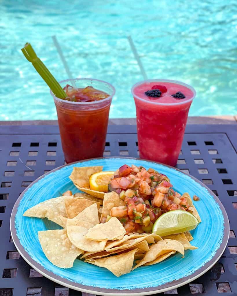H2Oasis dish by the pool at Hyatt Regency Scottsdale Arizona