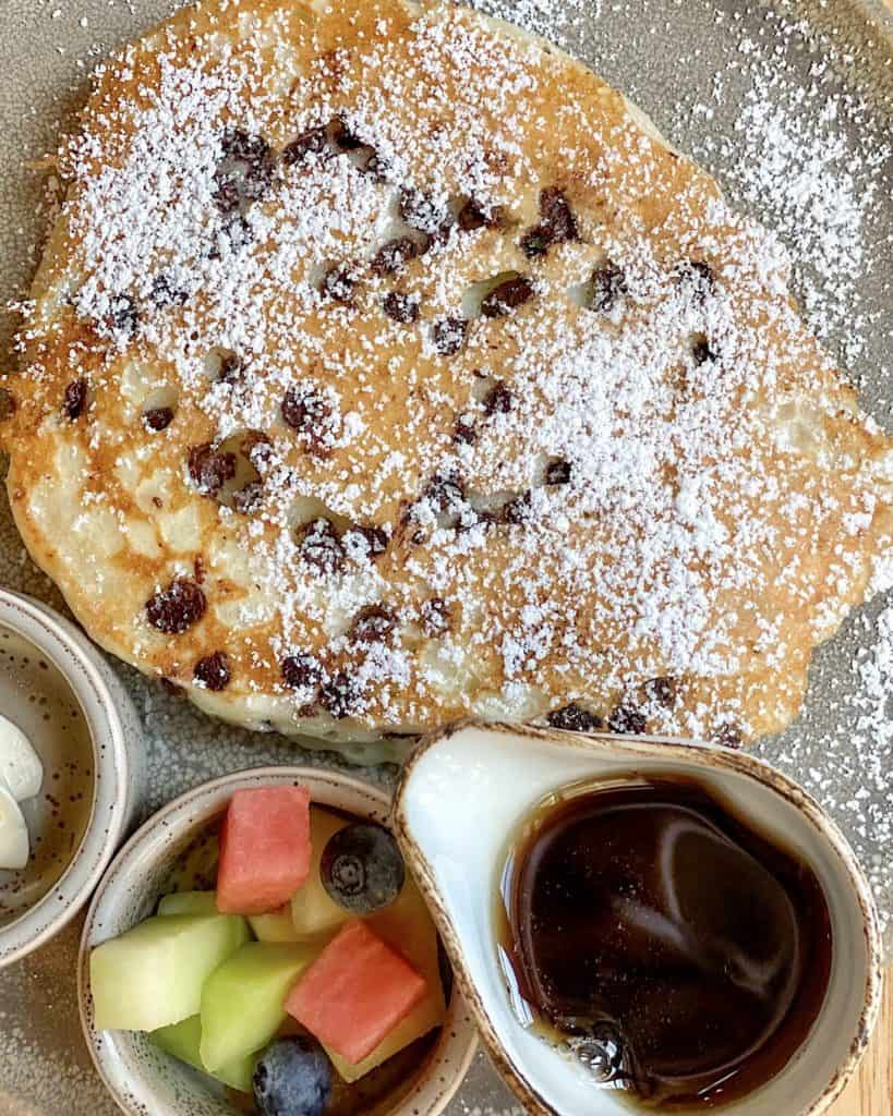 Pancakes at restaurant at Hyatt Regency Scottsdale Arizona