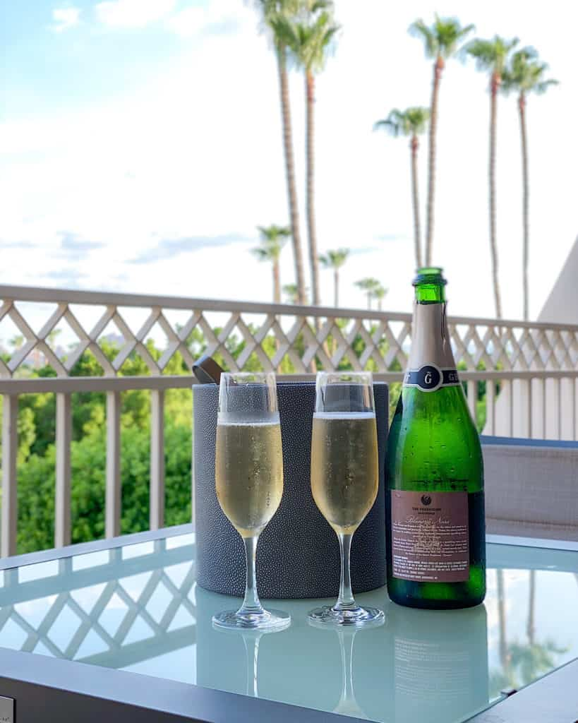 Champagne served at The Phoenician