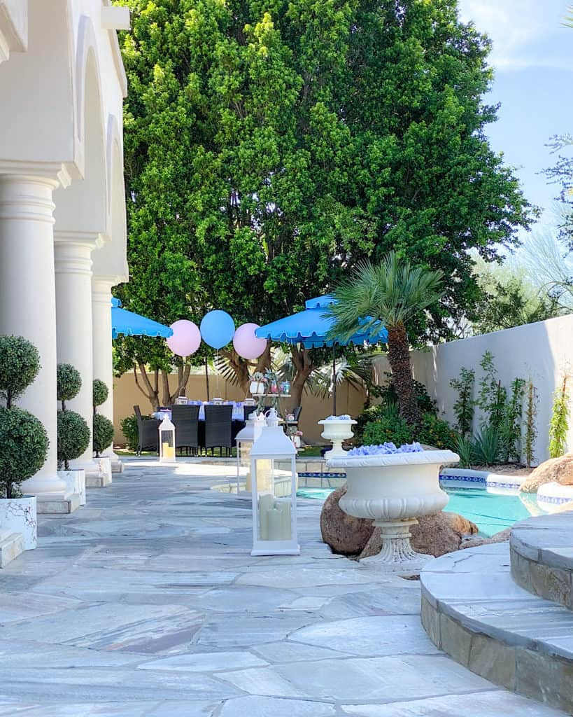 Decor for a gender reveal party