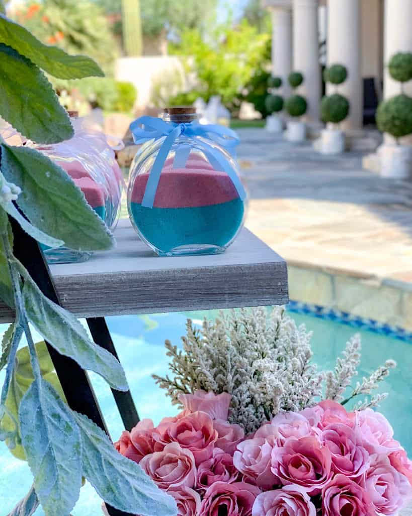 Gender reveal party outdoor decor