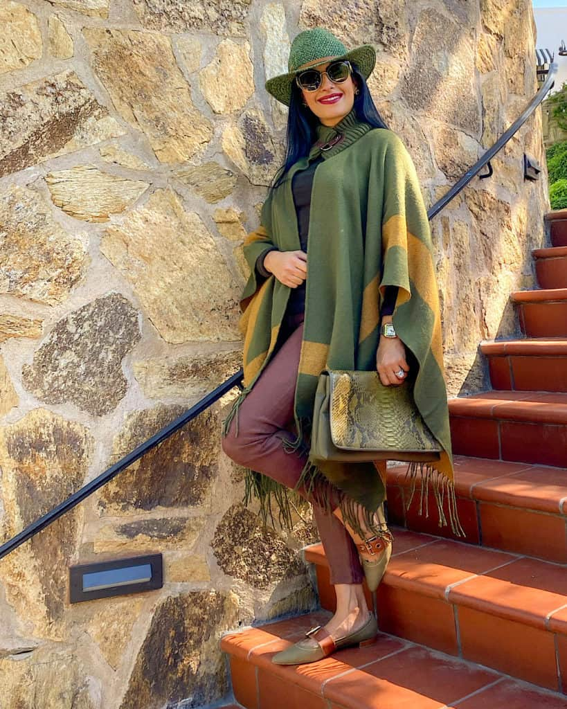Poncho and capes to try this fall